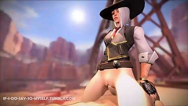 Overwatch - New Hero Ashe Gets Pounded