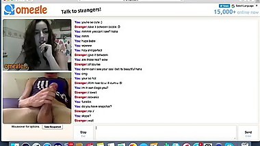 teen with perfect tits watches me cum on omegle