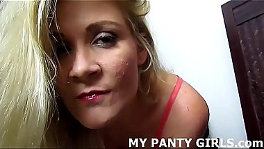 I love it when you jerk off to me in my panties JOI