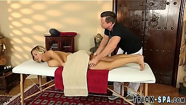 Busty milf banged by masseur