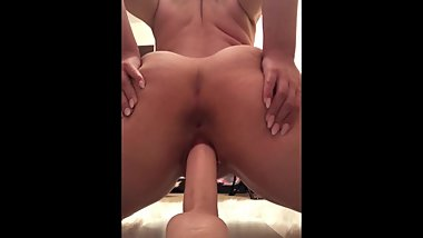 Heavenly Haylee/MrsMasterChief Dildo Reverse Cowgirl