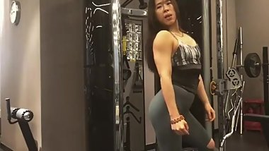 Chinese FitGirl admiring herself