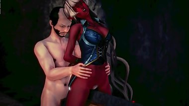 demoness and her dungon play