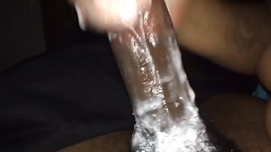 Massive Cumshot Leaves Cock Drenched In Cum