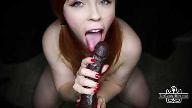 POV FIRST BBC Deepthroat and Cum Swallow