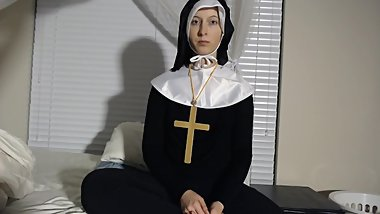 Desperate church nun prude can only do anal trailer - see my MV for more!