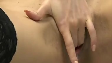 Super sexy brunette masturbating