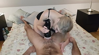 My gift for my husband + cumshot in my mouth
