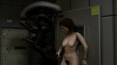 Sigourney Weaver - Ripley Has Sex with Alien