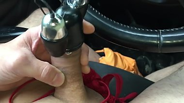 Sister caught brother edging with lots of precum