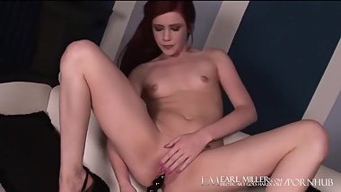 Flat Chested Redhead Elle Alexandra Bates Until She Creams!