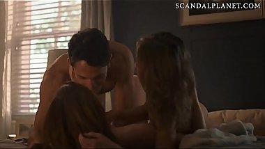 Lili Simmons &amp_ Hannah Emily Anderson Lesbian scene from '_The Purge'_ On ScandalPlanetCom