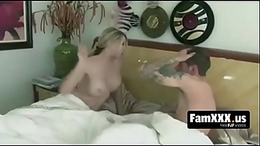 Mom wakes up her daughter'_s boyfriend in the best way - FREE TABOO videos at FAMXXX.US