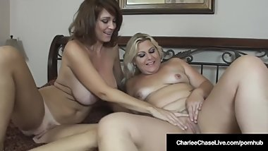 Mature Mommy Charlee Chase Tongue Fucks Plump Selah Rain!