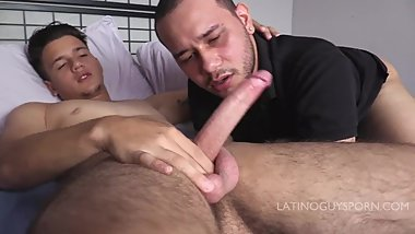 Latin papi Italo sucking and rimming on young lating ass and cock