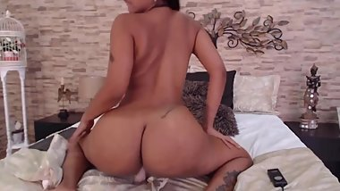 Hot young Latina Jodie with long hair and stunning butt