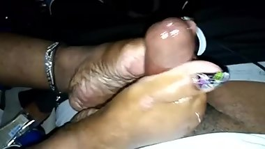 Best footjob ever milked me good