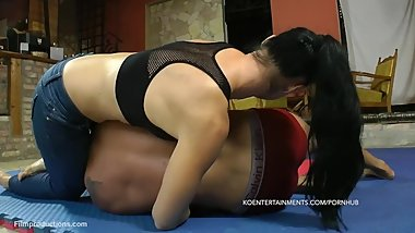 Jenna vs. Zsolt 59' - Mixed Wrestling
