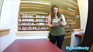 Library Girl Gets Horny And Has KINKY Sex