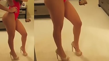 Mexican Sexy Weather Girl Yanet Garcia HIgh Heel Lingerie
