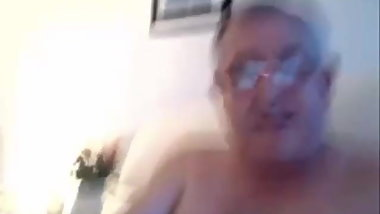 Dad's happiness in masturbating