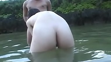 Outdoors sex scene with concupiscent slut getting fingered and screwed