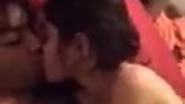 Indian couple enjoying while kissing