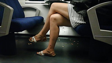 Sexy Legs on the train