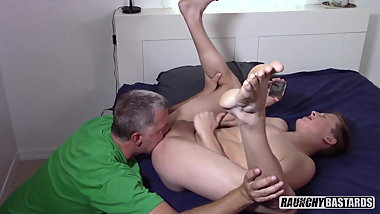 Creepy Daddy Seduces Straight 18 yo Blond