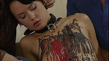 Torture of beautiful slave (BDSM & SM)