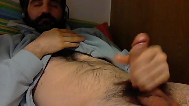 Hairy Italian Daddy Ex Bf Jerks off for me