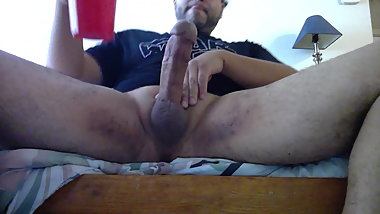 My fat cock cumming for thanksgiving