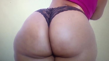 African Phatty Black Thong