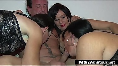 Real amateur orgy with neighbor'_s wife and female whores