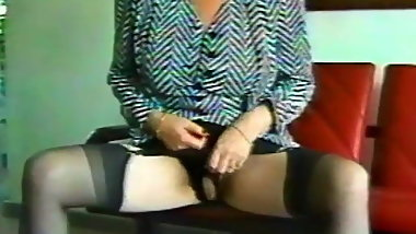 Gisela secretary greets her boss in a short skirt