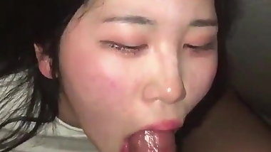 Korean girl face fuck
