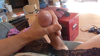 I want you to look at my cock shooting cum