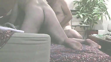 Japanese slut wife 3some assfucked hard while sucking cock