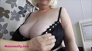 Go ahead have a fell of my big tits