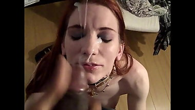 Little White Whore Waits For Black Cum