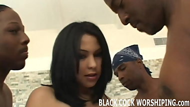 I will let you watch me riding two big black cocks