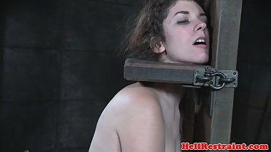 Gagged bigass submissive getting punished
