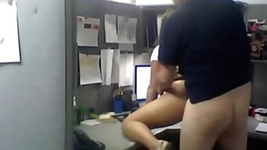 Caught on hidden camera in office