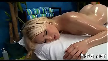 Gorgeous playgirl gets a hard fuck after a fleshly massage