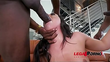 Whitney Wright Gets Punished by Two Big Black Cocks