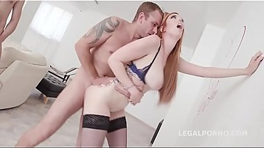 7on1 Double Anal Gangbang with Busty Redhead Lauren Phillips Balls Deep Anal