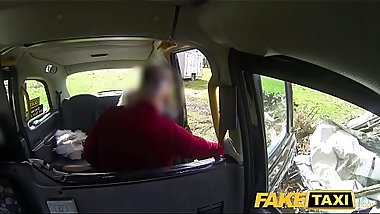 Fake Taxi Hot tattooed blonde cums in cab after hard fucking