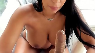 www.SexBixBox.com - NICE BIG TITS WHORE SUCK DILDO