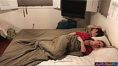 Stepmom shares bed with stepson - Erin Electra (preview)