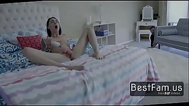 Brother takes advantage of the Sis masturbating -FREE TABOO videos at BESTFAM.US